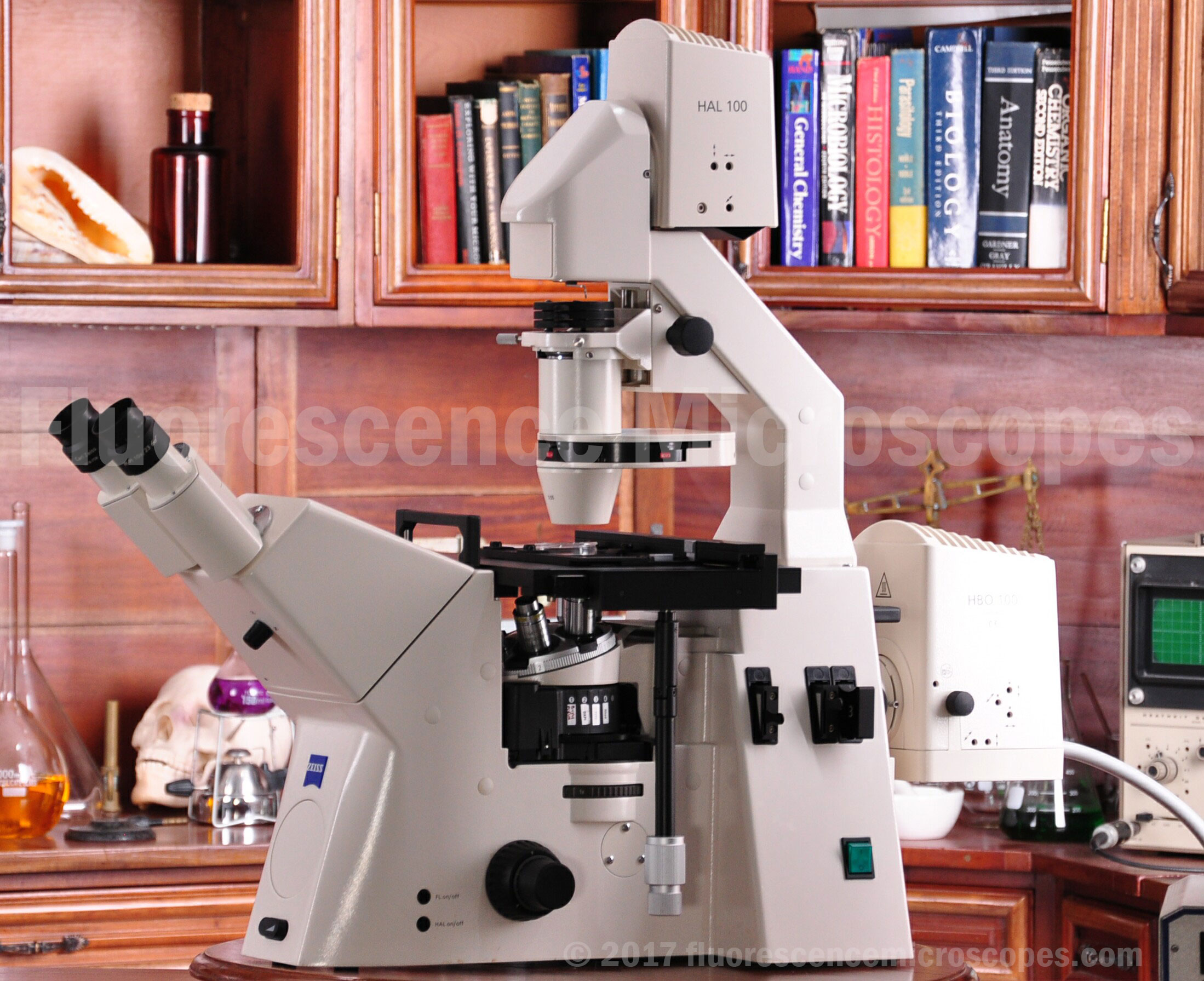 Fluorescence Microscopes - Zeiss AxioVert 200 Inverted Fluorescence ...